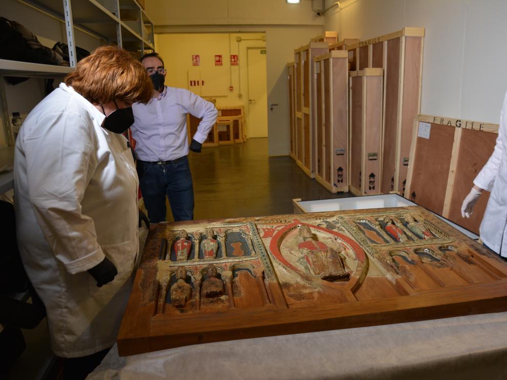 Una imagen del frontal de la iglesia Buira, considerado uno de los dos bienes más valiosos de la colección.