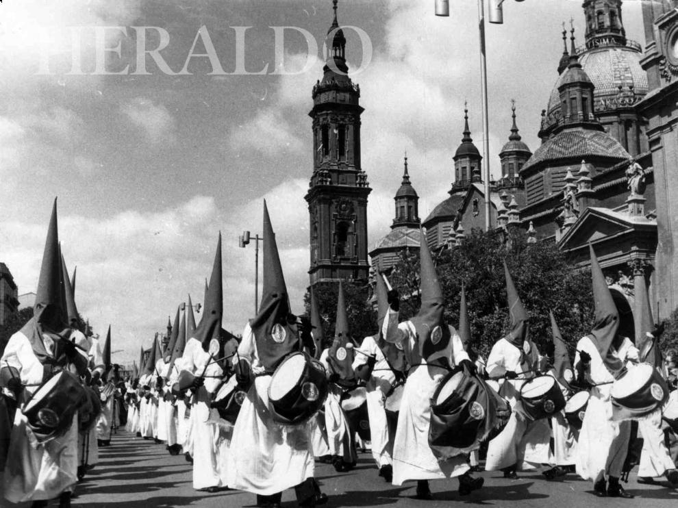 Viernes Santo en los años 70 en Zaragoza.