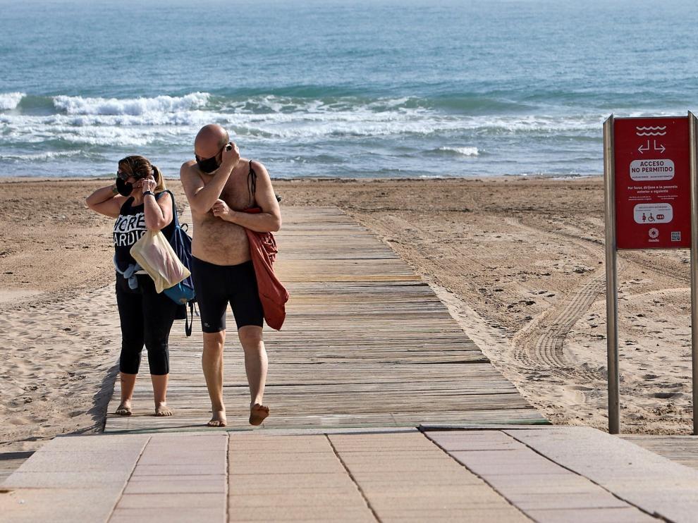 Obligatorio el uso de mascarillas en la playas