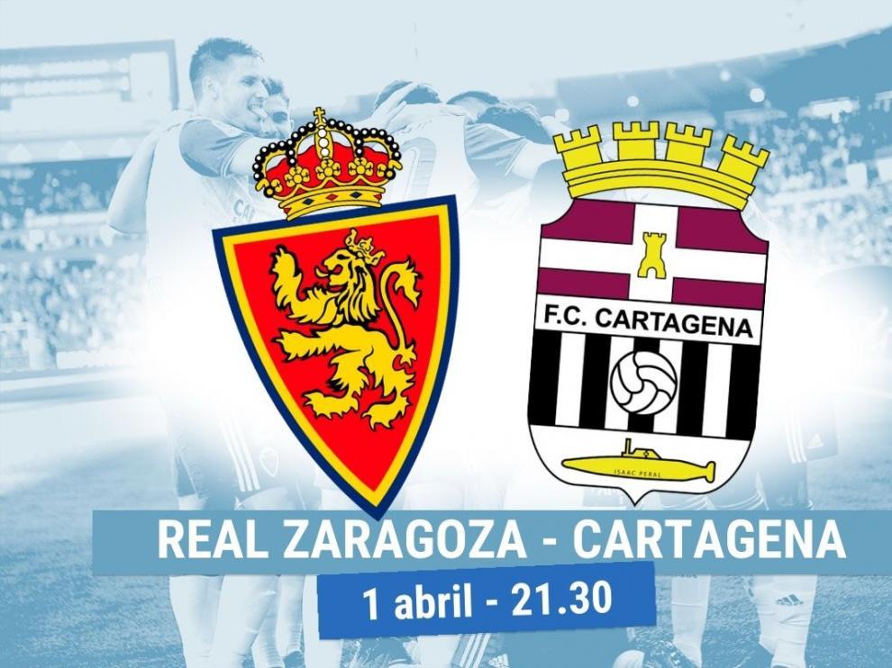 Horario y dónde ver el Real Zaragoza- Cartagena