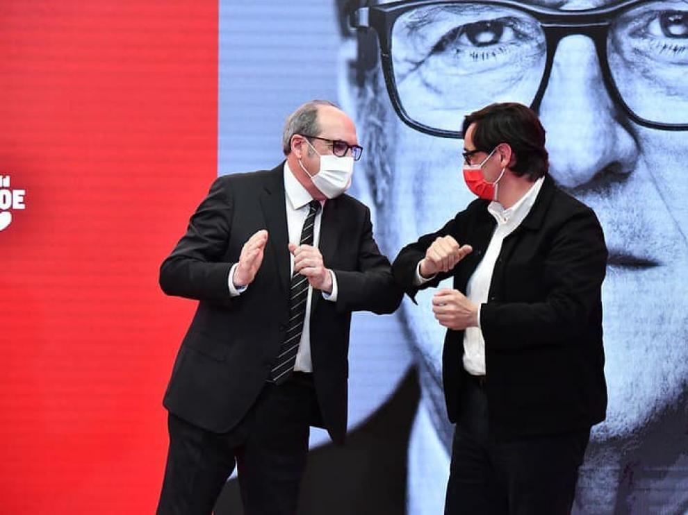 Ángel Gabilondo y Salvador Illa en el acto celebrado este sábado en Madrid