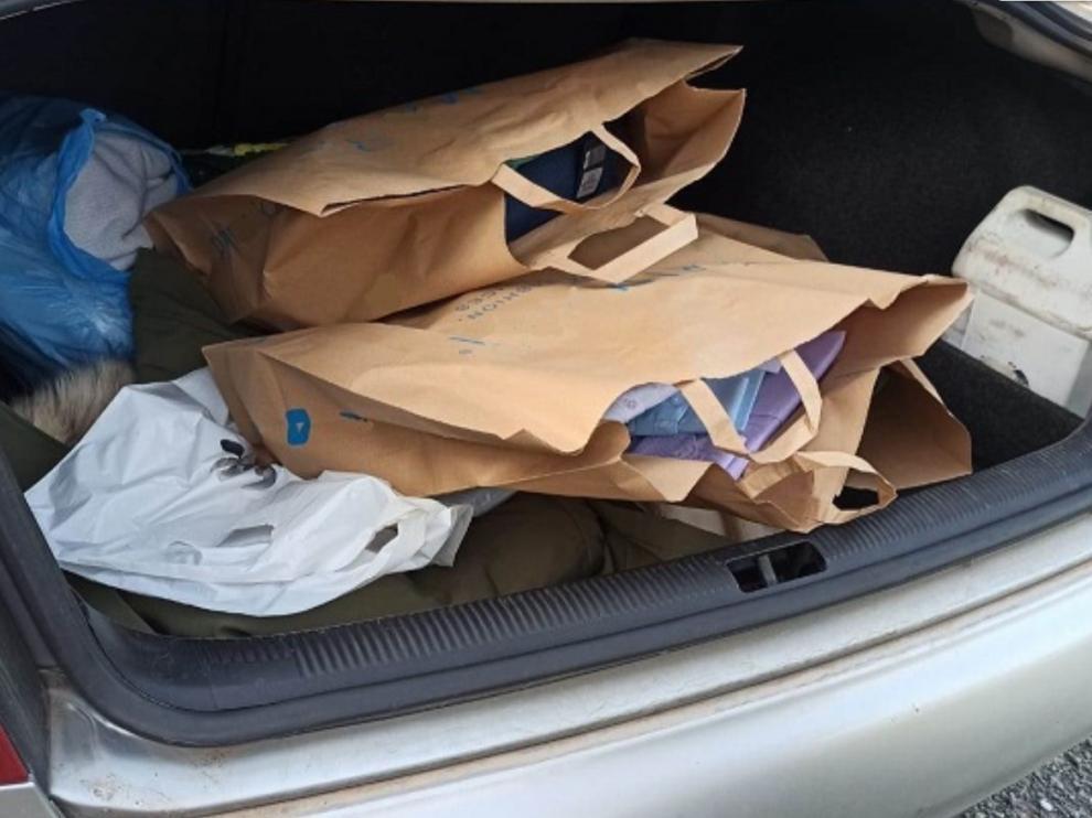 Imagen del maletero compartida por la Policía Foral.