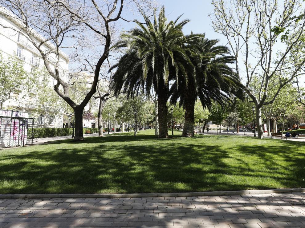 Acaban las obras de reforma de la plaza de los Sitios de Zaragoza