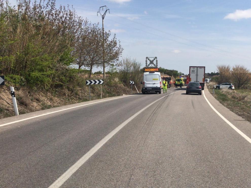Accidente mortal de un camionero en la N-122, entre Maleján y Bulbuente