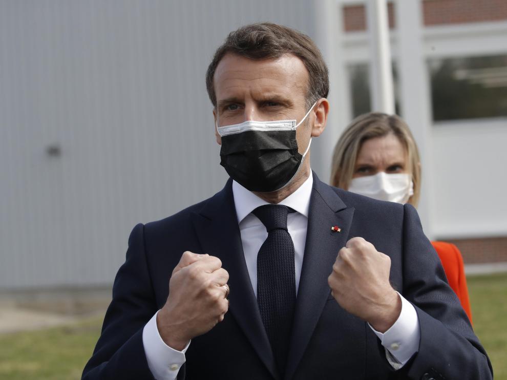 El presidente francés, Emmauel Macron