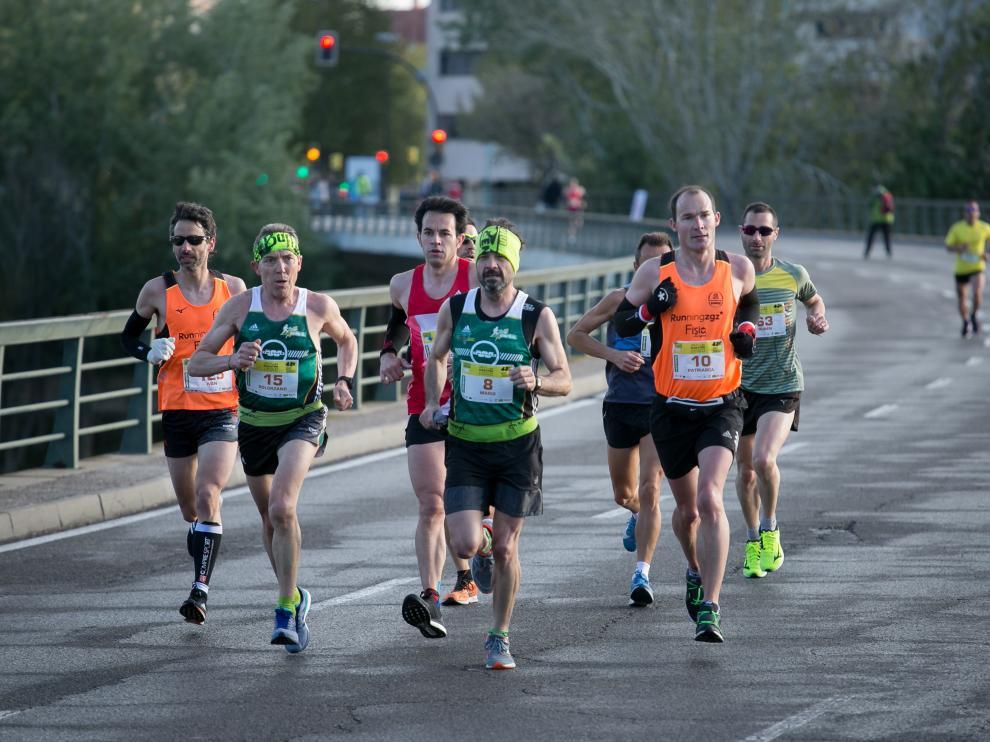 Imagen del último maratón y 10K celebrado en Zaragoza, en abril de 2019.