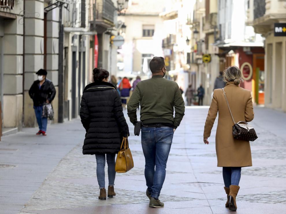 Veladores y calles de Jaca.