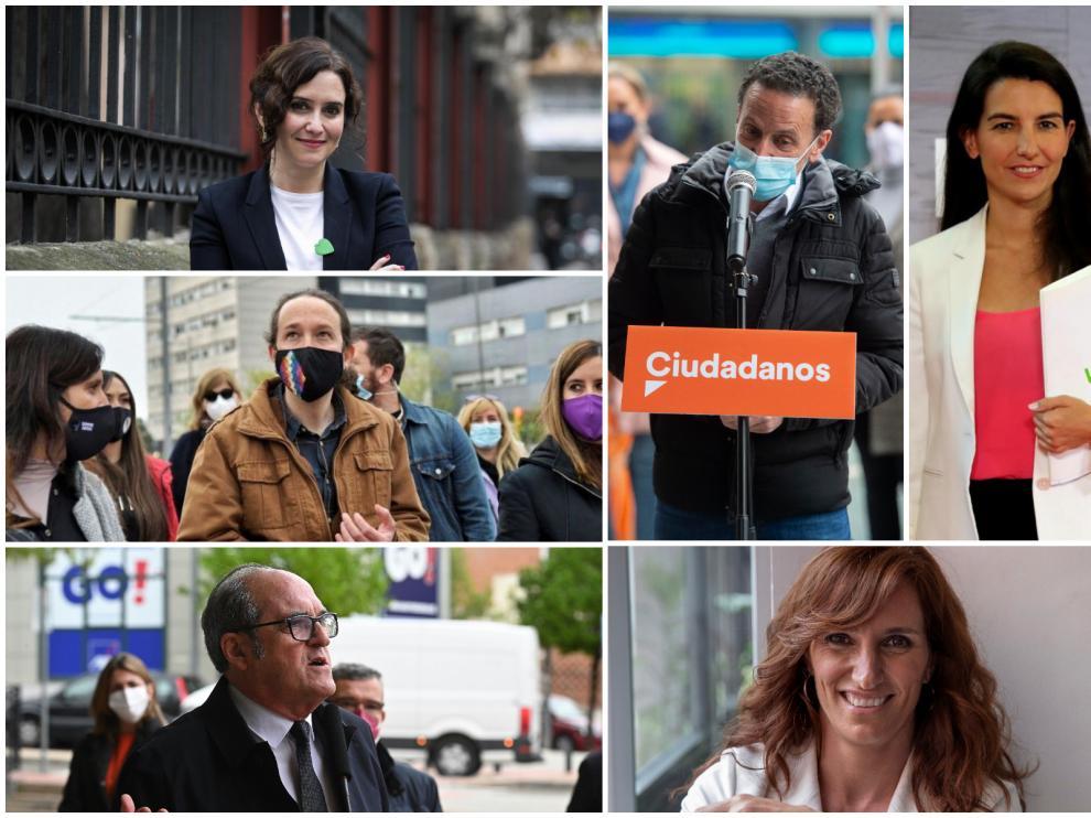 Candidatos a las elecciones de Madrid.