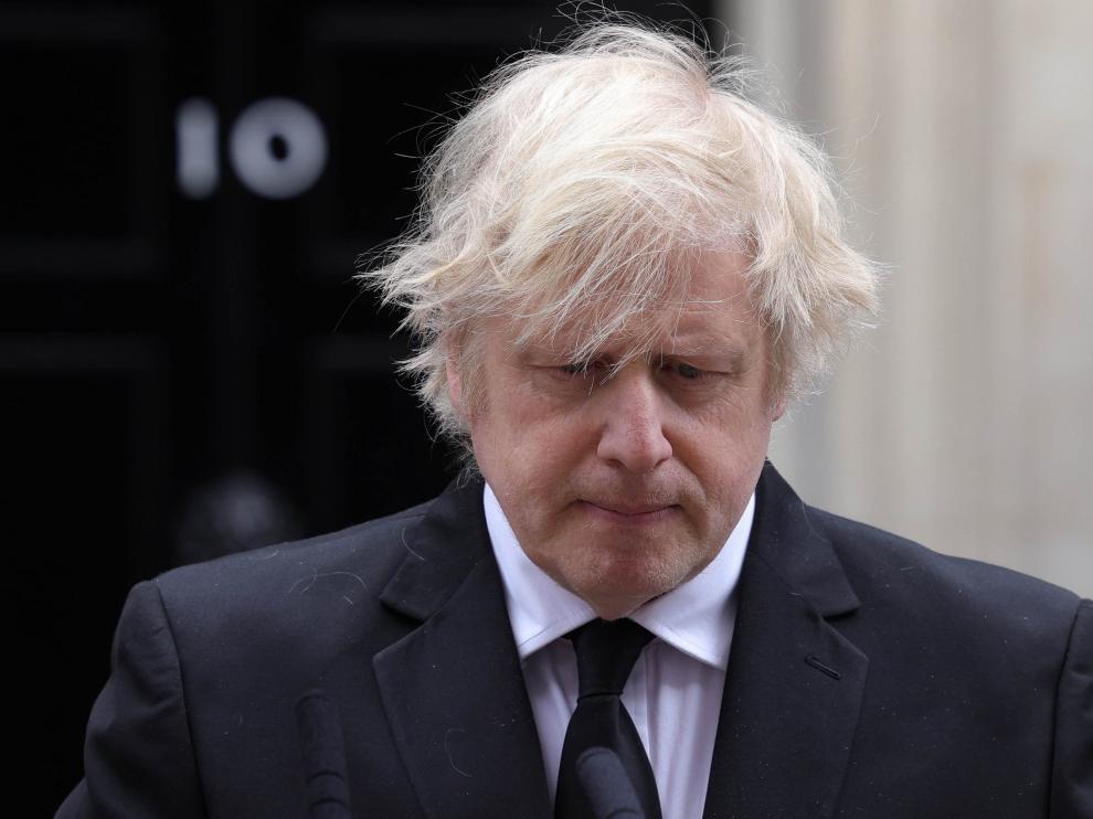 Boris Johnson, en su declaración tras conocer la muerte del príncipe Felipe de Edimburgo.
