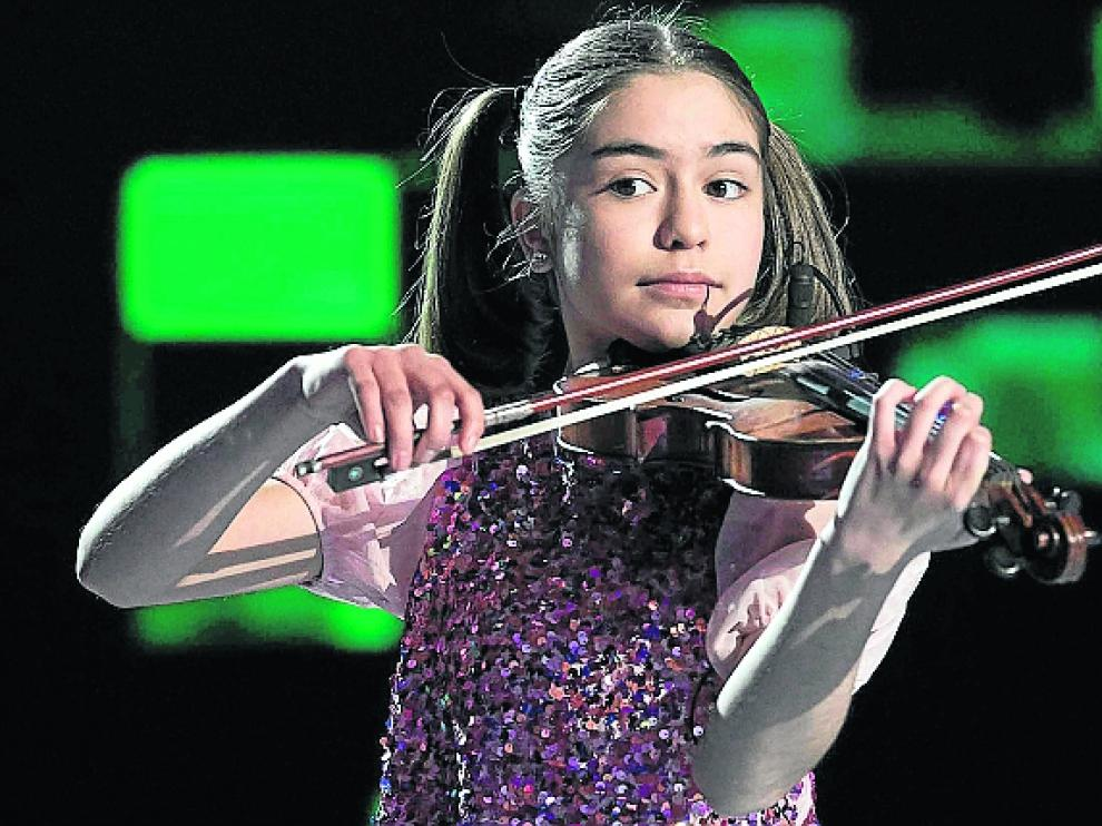 Sofía Rodríguez, durante su actuación en la final del 'talent'