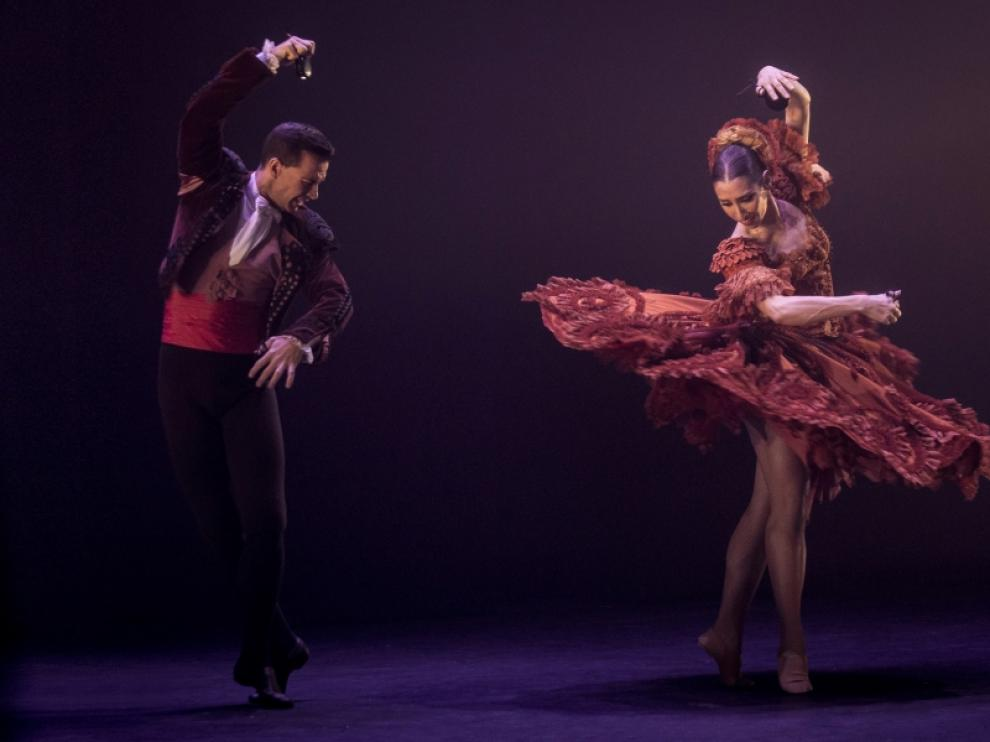 El Ballet Nacional, en una representación de 'Invocación'.