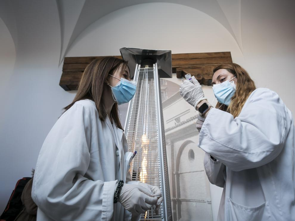 Vacunación con AstraZeneca en el museo del fuego / 12-04-2021 / Foto: José Miguel Marco