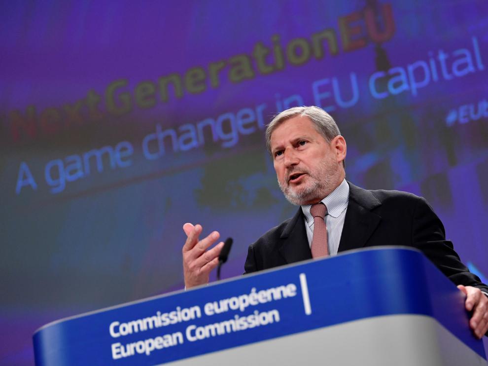 El comisario de Presupuestos de la Comisión Europea, Johannes Hahn