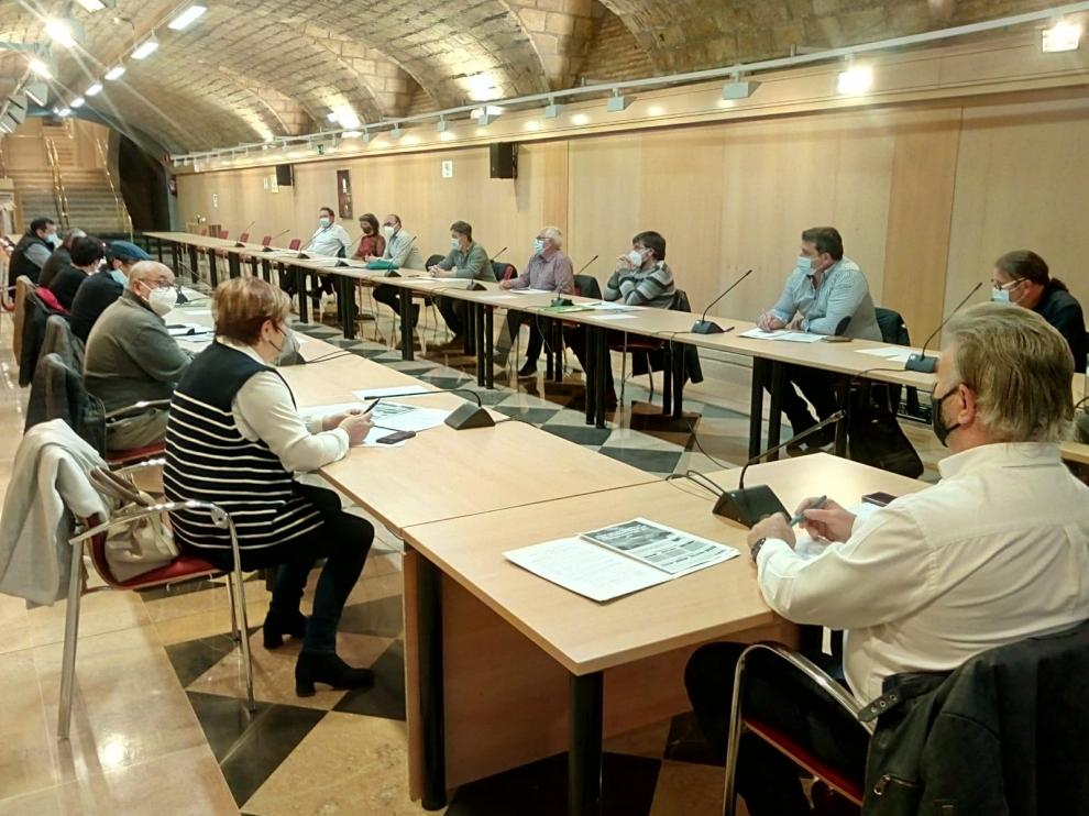 Reunión de presidentes de grupos Leader de Aragón.