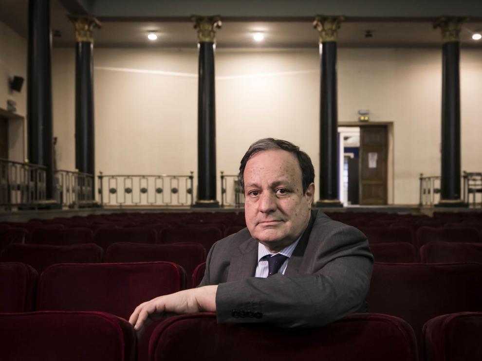 José Miguel Sánchez, en la sede de la Cámara de Comercio de Zaragoza