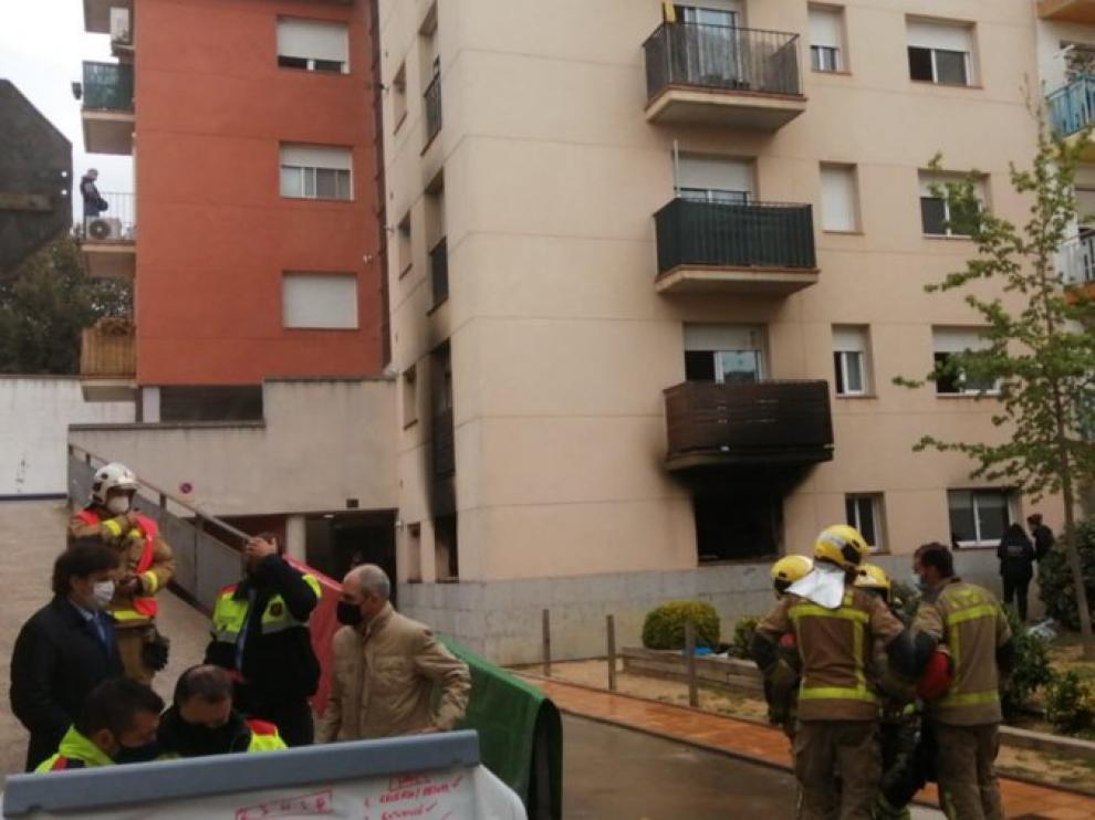 Foto publicada en Twiter por los mossos del lugar del incendio