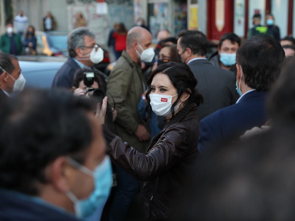 La presidenta de Madrid, Isabel Díaz Ayuso, en un acto de precampaña.