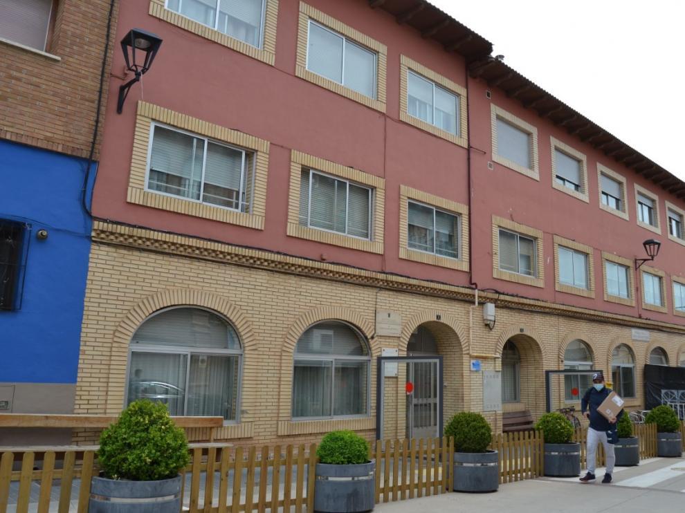 Fachada de la residencia de mayores San Sebastián de Mallén