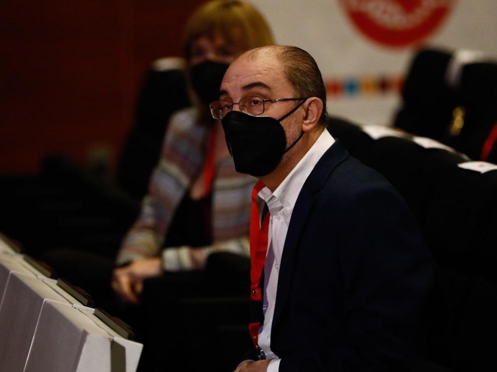 Javier Lambán en el Congreso de UGT