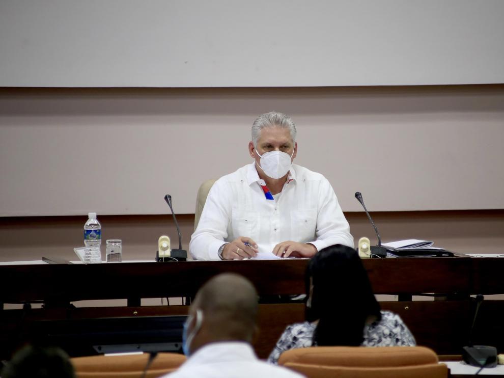 Miguel Díaz-Canel, en el congreso del PCC, en La Habana.