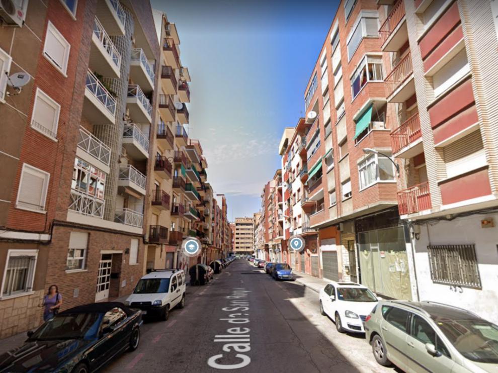 Una imagen de la calle de San Roque, en el barrio de Las Delicias de Zaragoza.