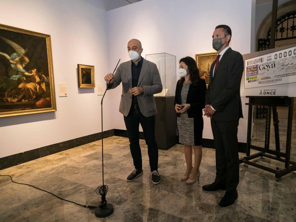 Presentación del cupón de la ONCE por el 275 aniversario del nacimiento de Goya