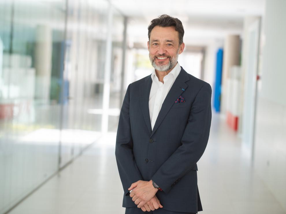 José Antonio González, consejero delegado de Pikolín, en la sede de la empresa en Plaza.