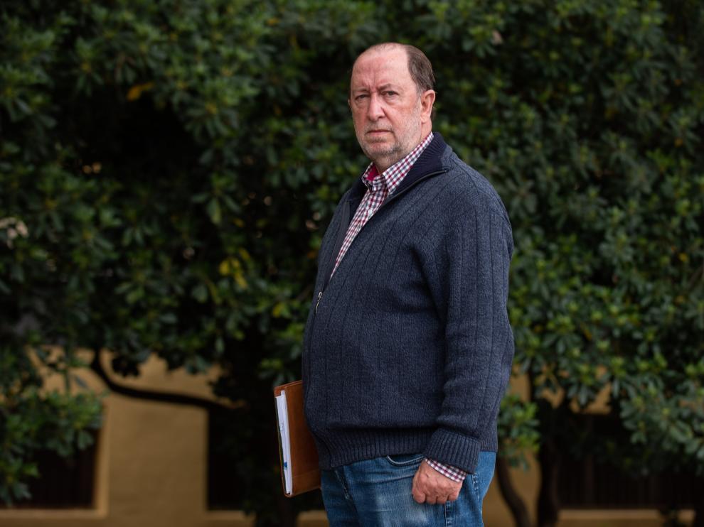 Teodoro Corchero, de visita en Zaragoza, aunque reside habitualmente en Cubla (Teruel)