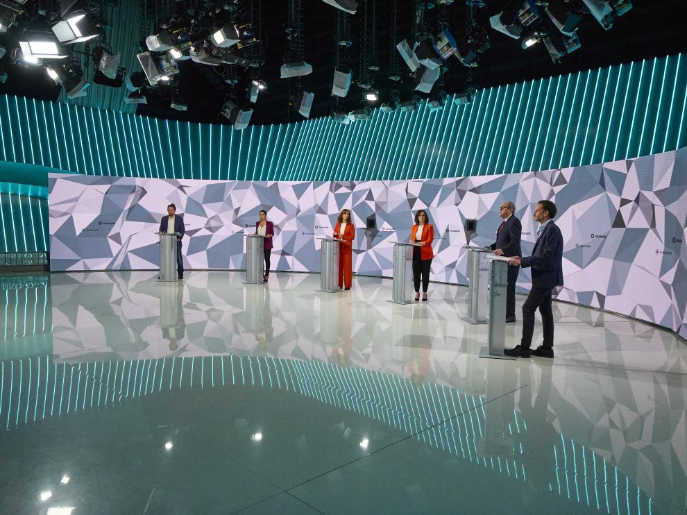 Debate electoral de los seis candidatos a las elecciones de Madrid