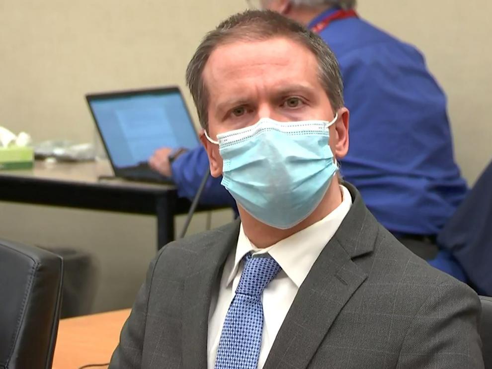 Derek Chauvin, en el momento de la lectura del veredicto.