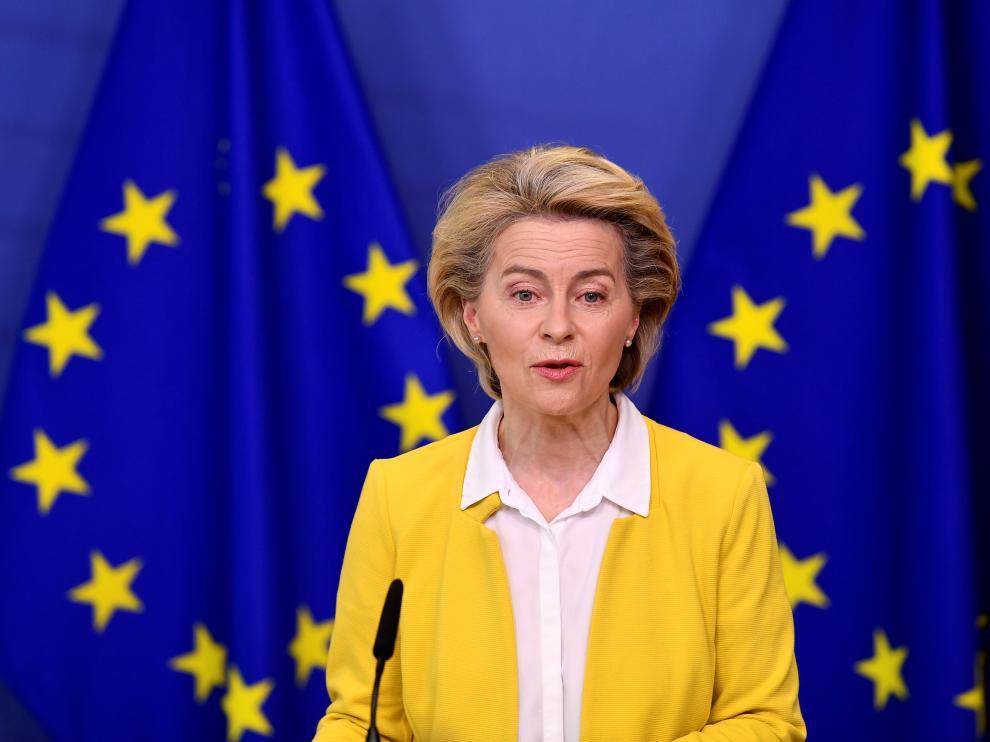 La presidenta del Ejecutivo comunitario, Ursula von der Leyen
