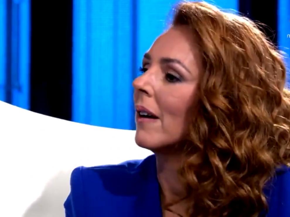 Rocío Carrasco durante la entrevista