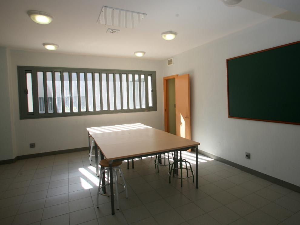 Sala del centro de menores de Juslibol.