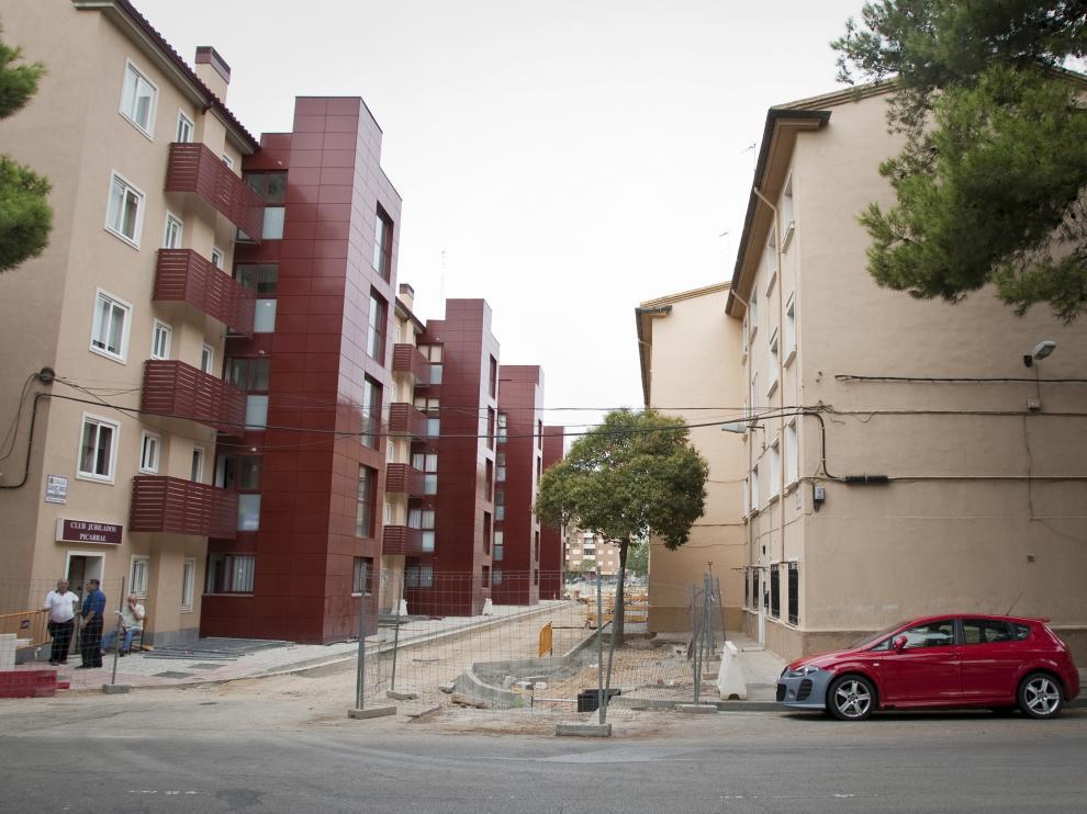 Viviendas rehabilitadas en el Picarral de Zaragoza.