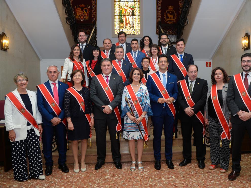 Constitución del Ayuntamiento de Teruel, tras las elecciones locales de 2019.