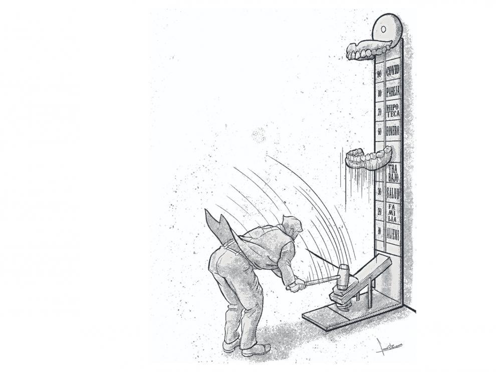 Ilustración sobre el bruxismo.