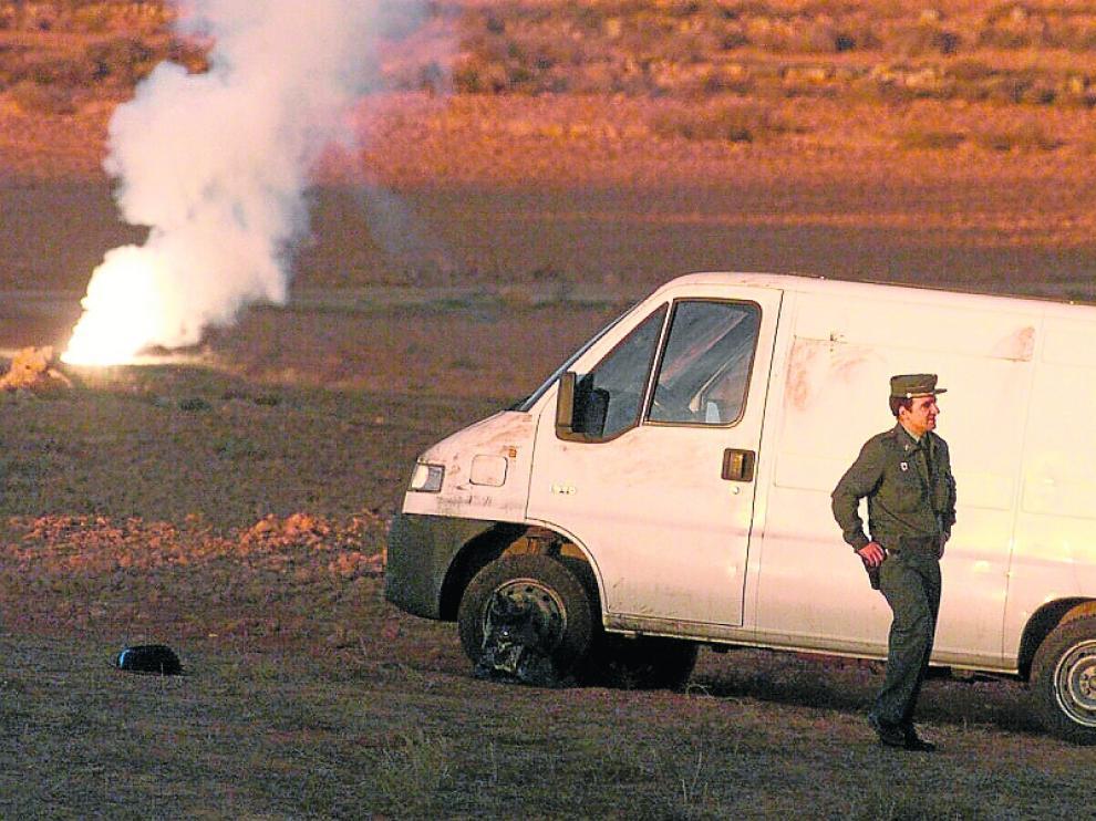 Imagen de la 'caravana de la muerte', interceptada en Contamina en 1999