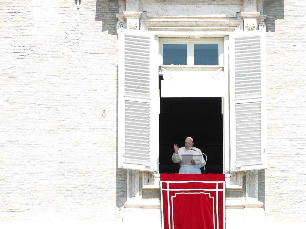El Papa Francisco, este domingo en el Vaticano.
