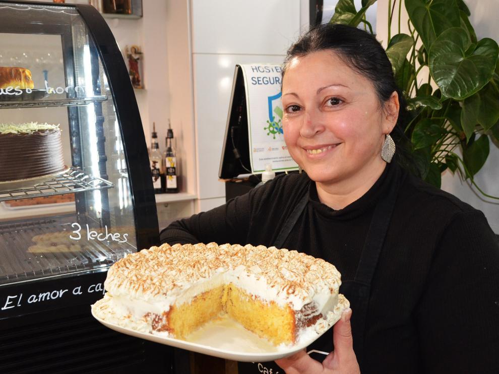 Inés Moreno y su familia descubrieron esta tarta en un viaje a La Palma.