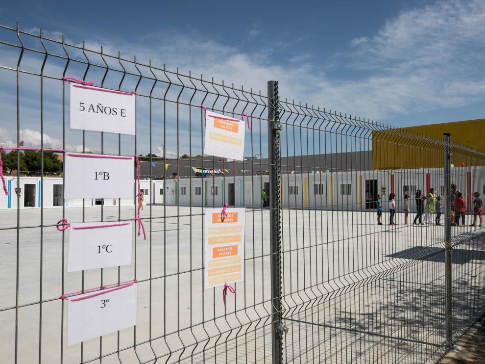 Las aulas prefabricadas del Soledad Puértolas.