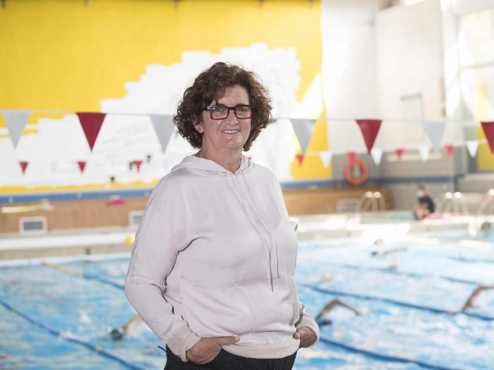 Pilar Tejel, en el CN Helios donde se formó como nadadora