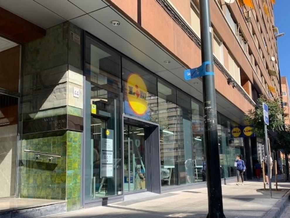 El nuevo establecimiento que abrió la cadena Lidl en septiembre del pasado año en Zaragoza.
