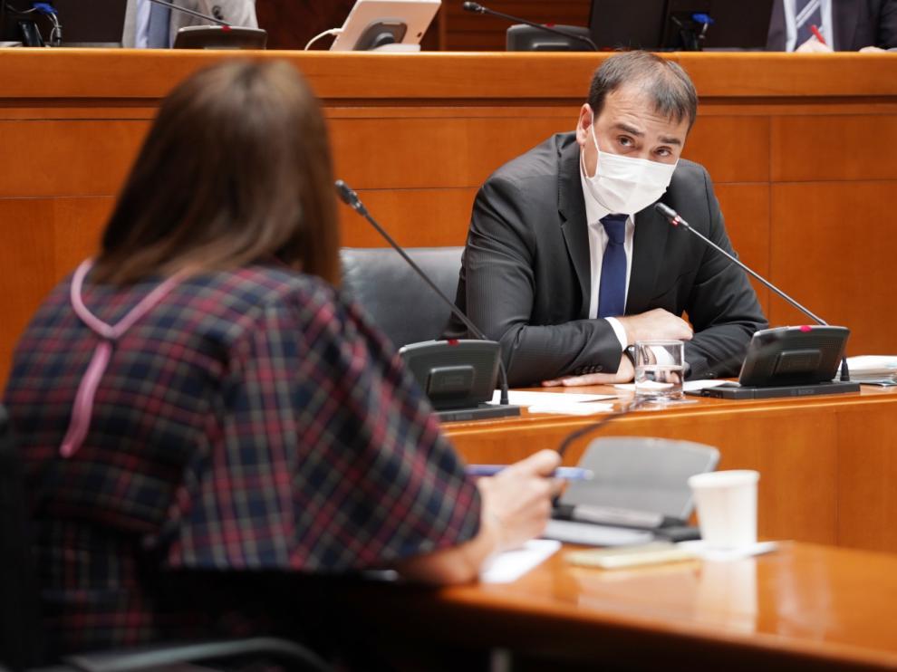 El director general de Presupuestos, Andrés Leal, ha comparecido este lunes en las Cortes a petición del PP para hablar de la liquidación de 2020.