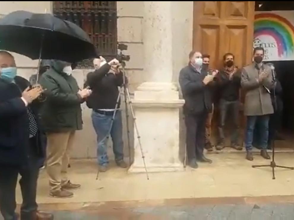 Aplauso a los niños, en Teruel