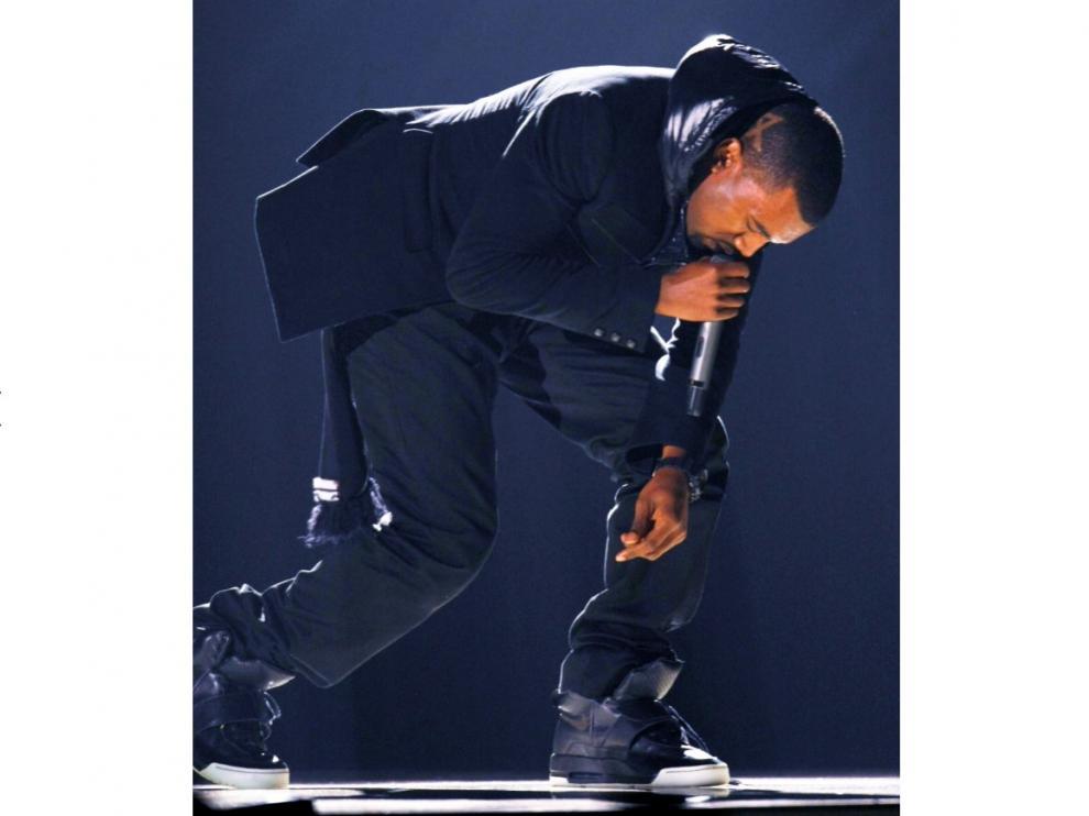 Kanye West, durante la gala de entrega de los Grammy en Los Angeles