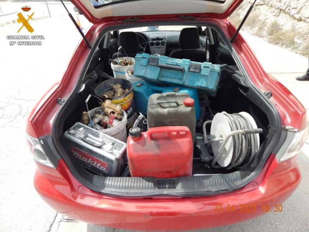 Tres detenidos por robar herramientas en una empresa de Cuarte de Huerva.