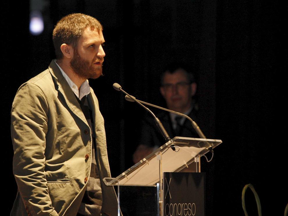 David Beriain en una imagen de archivo en el Congreso de Periodismo Digital de Huesca