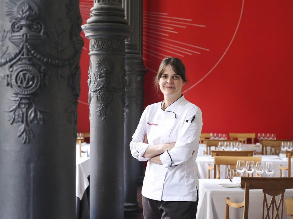 Diana Roitegui, al frente de la cocina del Paraninfo, que reabre de la mano de Carmelo Bosque.