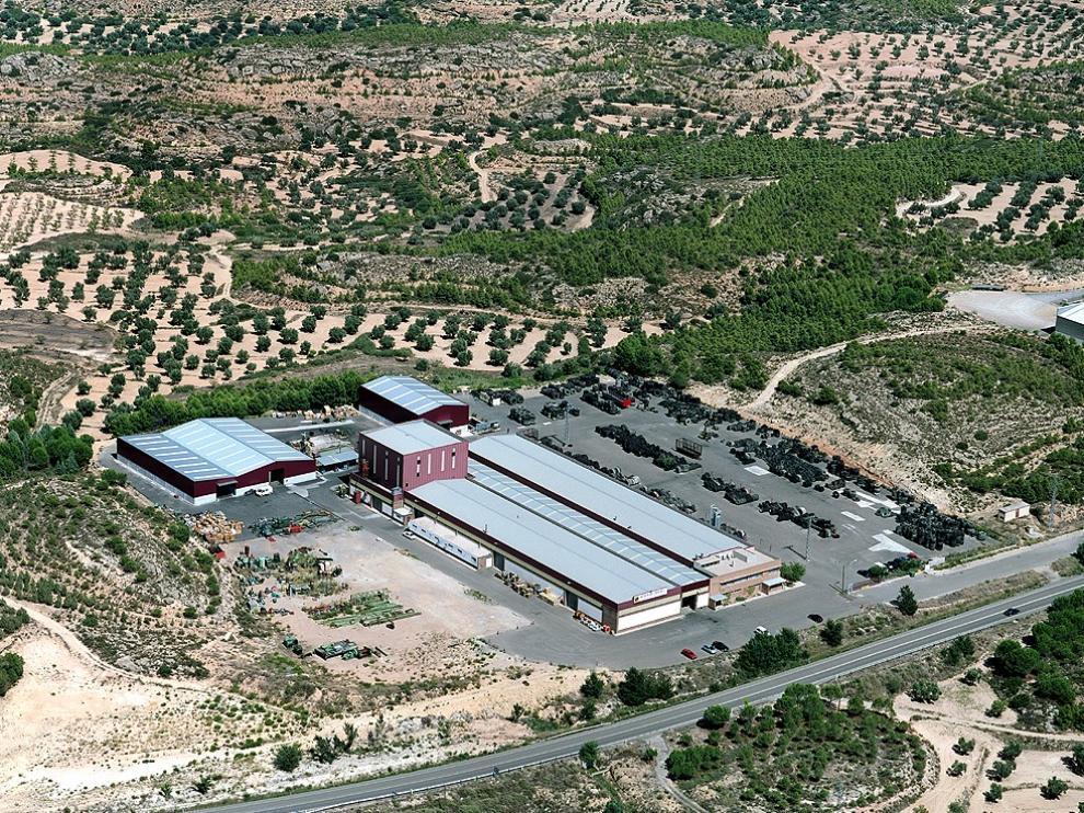 Foto aérea de las instalaciones de la empresa.