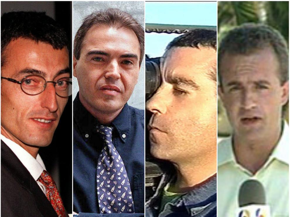 Miguel Gil, Julio Fuentes, José Couso y Ricardo Ortega